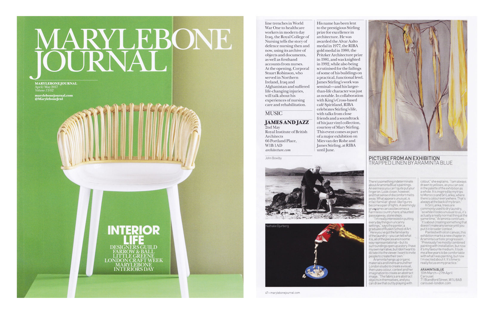 marylebone journal copy