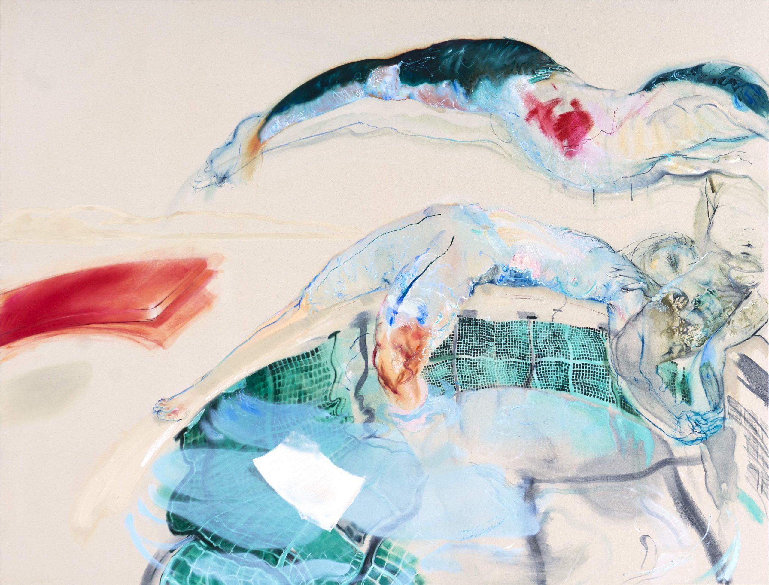 1mb Araminta Blue_Swimming Pool_150 x 200 cm_ oil on canvas_2020