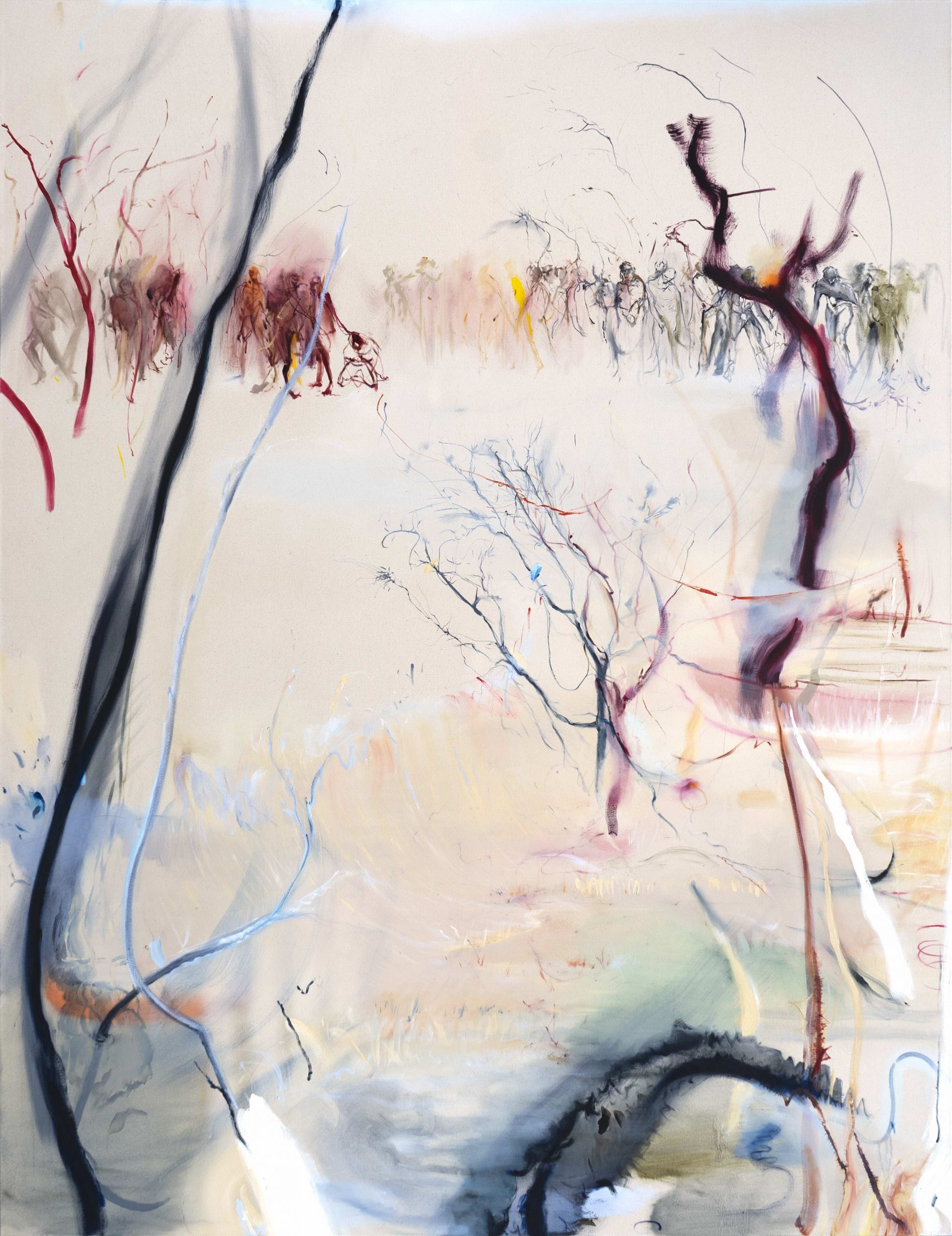 1mb Araminta Blue_The Block_200 x 160cm_oil on canvas_2020