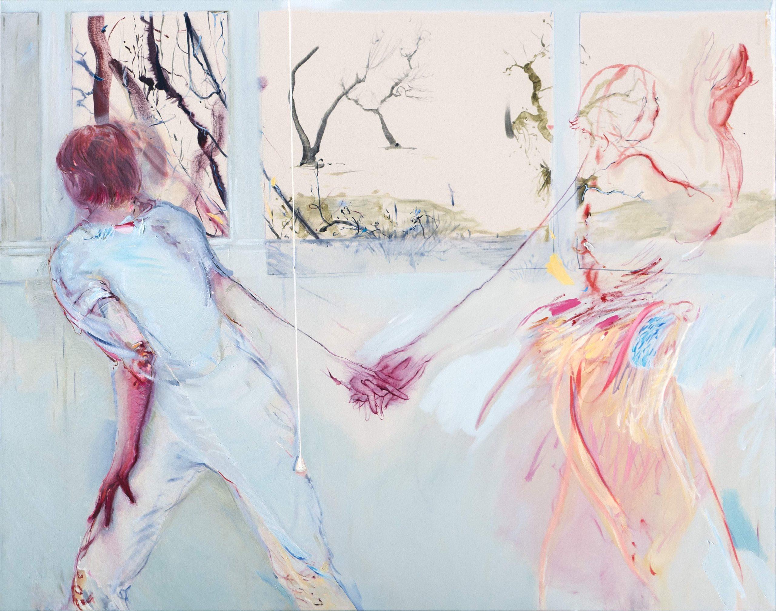 1mb Araminta Blue_Glass Tour_120 x 150 cm _oil on canvas_2020