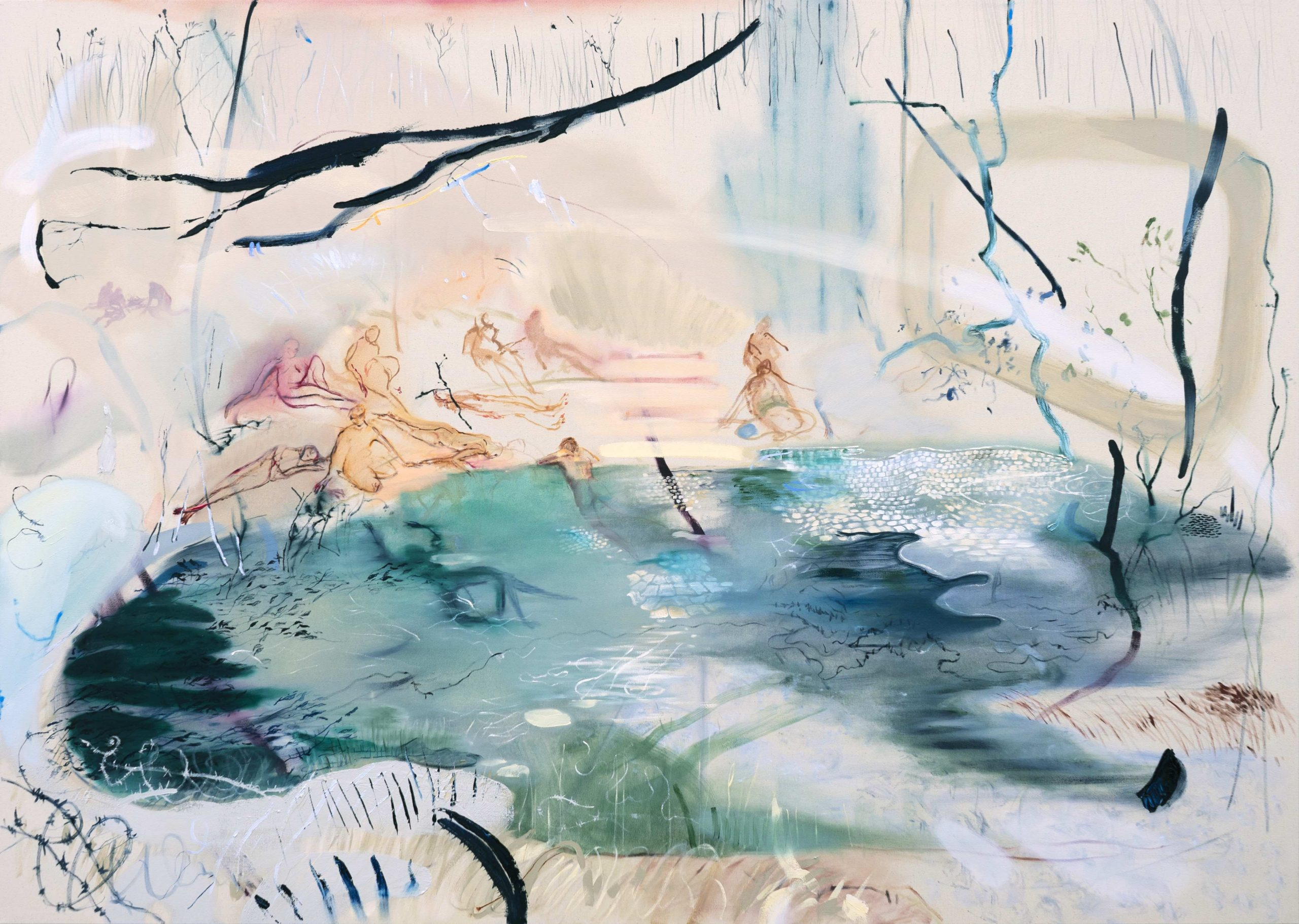 Araminta Blue_Openness closes in_130 x 180cm_oil on canvas_2020.