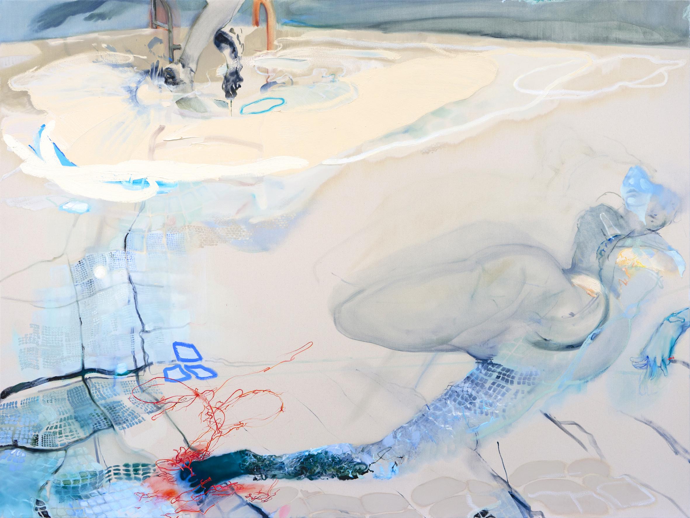Silt_150 x 200 cm_oil on canvas_2021_Araminta Blue